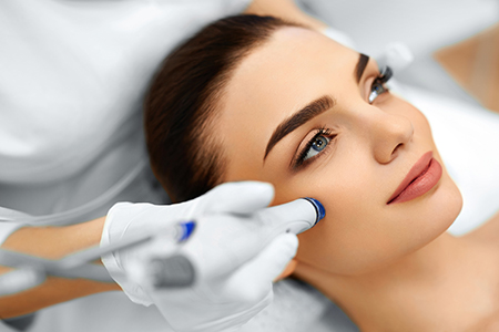 Skin Treatment for Lady, Microdermabrasion Huntington