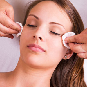 Woman is having cosmetic treatment