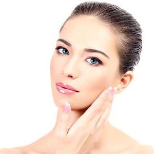 A woman having a fresh, clear skin