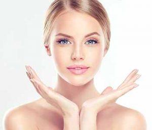 Woman having fresh skin