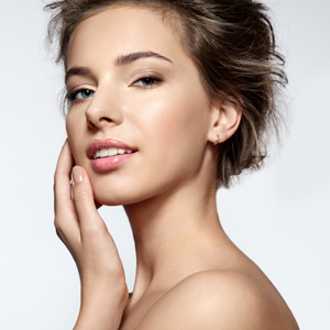 Attractive woman with great skin